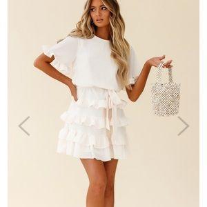 Zipporah Short Sleeve Layered Ruffle Dress